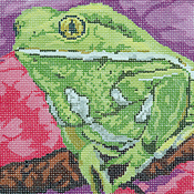 click here to view larger image of Waxy Monkey Frog (hand painted canvases)