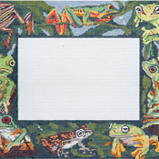 click here to view larger image of Frogs Frame (hand painted canvases)