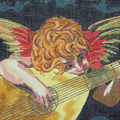 click here to view larger image of Florentine Angel Doorstop (hand painted canvases)