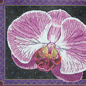 click here to view larger image of Singapore Orchid (hand painted canvases)