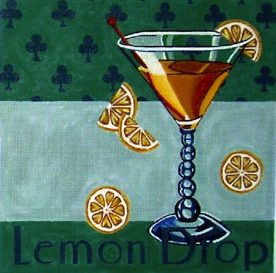 click here to view larger image of Lemon Drop (hand painted canvases)