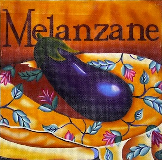 click here to view larger image of Eggplant (hand painted canvases)