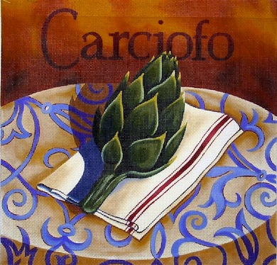 click here to view larger image of Artichoke (hand painted canvases)