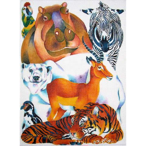 click here to view larger image of Animal Menagerie (hand painted canvases)