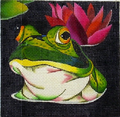 click here to view larger image of Frog - Up to Your Neck (hand painted canvases)
