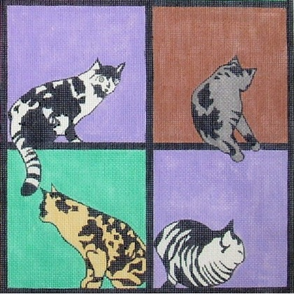click here to view larger image of Kitty Patch (hand painted canvases)