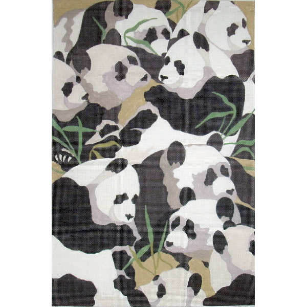 click here to view larger image of Pandas (hand painted canvases)