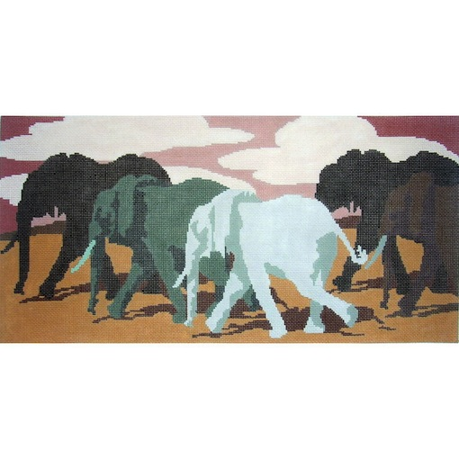 click here to view larger image of Dawn Tuskers (hand painted canvases)