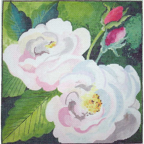 click here to view larger image of Rose Watercolor (hand painted canvases)