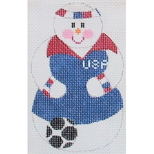 click here to view larger image of Soccer Snowman (hand painted canvases)