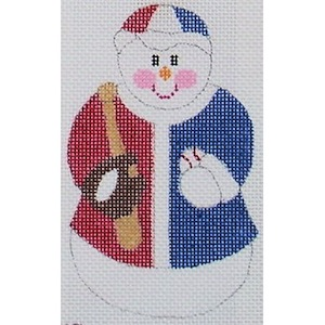 click here to view larger image of Baseball Snowman (hand painted canvases)