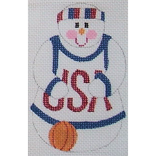 click here to view larger image of Basketball Snowman (hand painted canvases)
