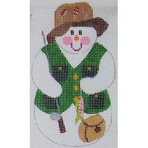 click here to view larger image of Fisherman Snowman (hand painted canvases)