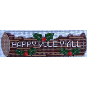 """click here to view larger image of """"Happy Yule Y'All"""" (hand painted canvases)"""