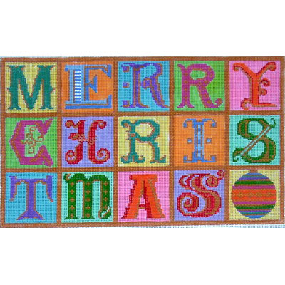 """click here to view larger image of """"Merry Christmas"""" (hand painted canvases)"""