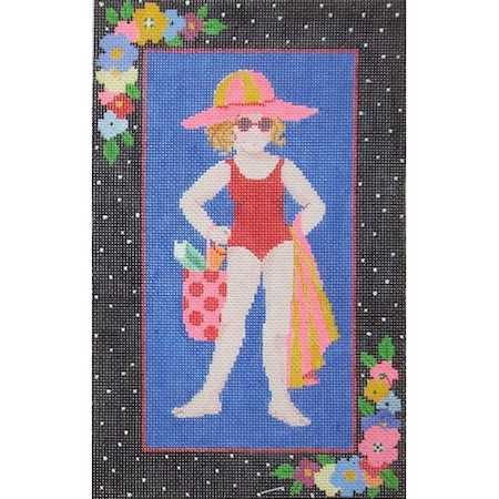 click here to view larger image of Swimming Girl (hand painted canvases)