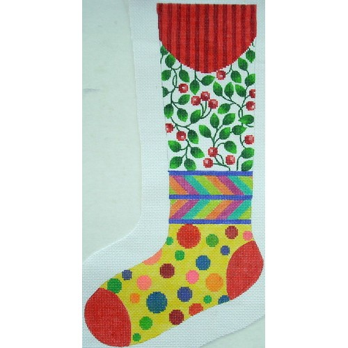 click here to view larger image of Bright Stocking (hand painted canvases)