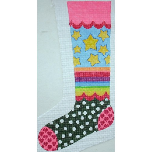 click here to view larger image of Bright Stocking Stars (hand painted canvases)