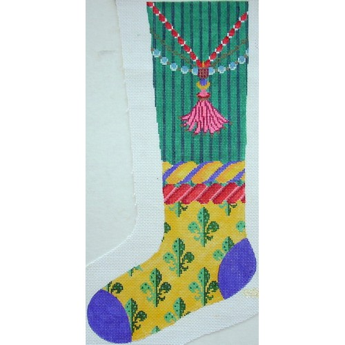 click here to view larger image of Bright Stocking Tassel (hand painted canvases)