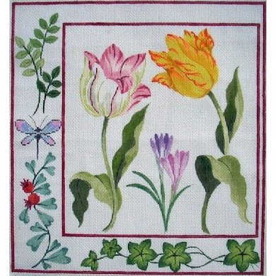 click here to view larger image of Botanical Tulip (hand painted canvases)