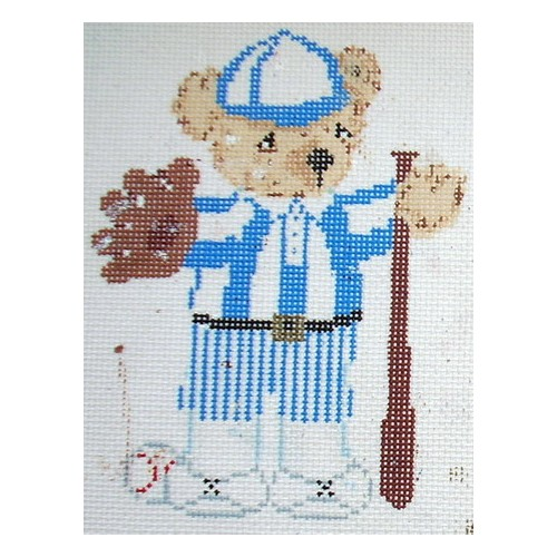 click here to view larger image of Baseball Bear (hand painted canvases)
