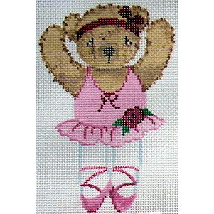 click here to view larger image of Ballerina Teddy Bear (hand painted canvases)