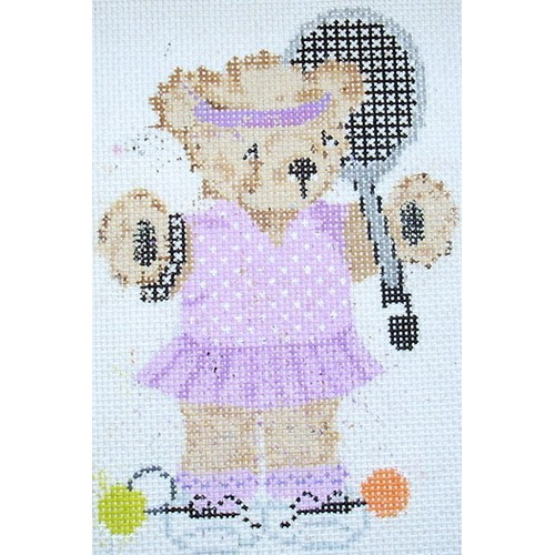 click here to view larger image of Tennis Girl Bear (hand painted canvases)