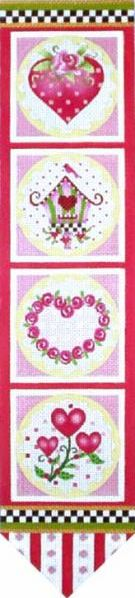 click here to view larger image of Rose Heart Banner (hand painted canvases)