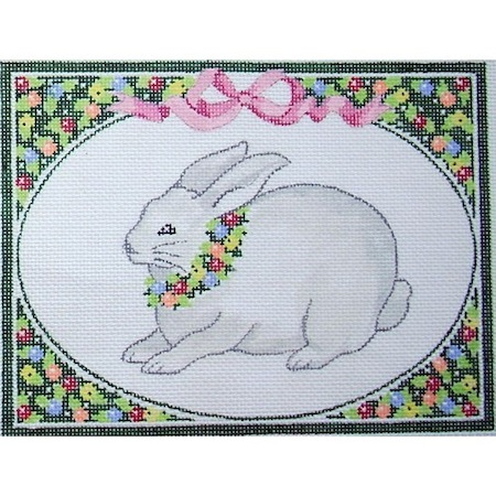 click here to view larger image of Bunny - Floral (hand painted canvases)
