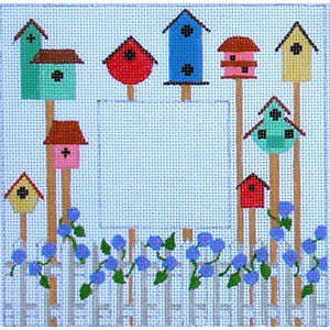 click here to view larger image of Birdhouses (2.25x2.25) (hand painted canvases)