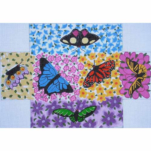 click here to view larger image of Butterfly & Floral (hand painted canvases)