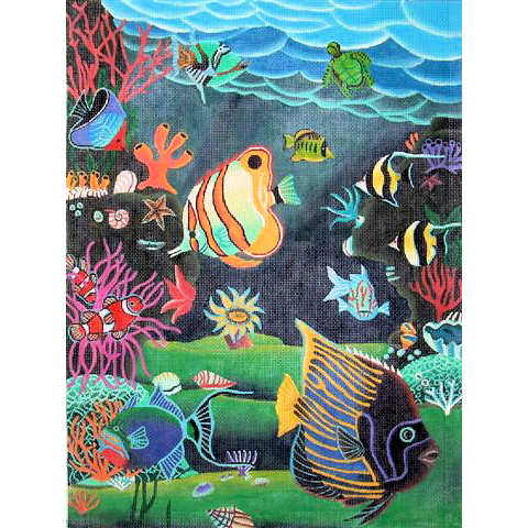 click here to view larger image of Reef Fish (hand painted canvases)