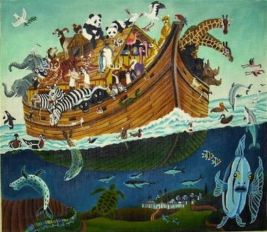 click here to view larger image of Animal Ark (hand painted canvases)
