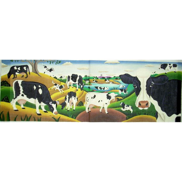 click here to view larger image of Cows (hand painted canvases)