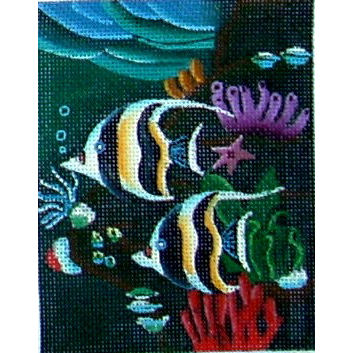 click here to view larger image of Angel Fish (hand painted canvases)
