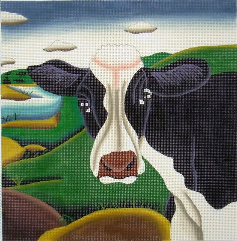 click here to view larger image of Cow Face (hand painted canvases)