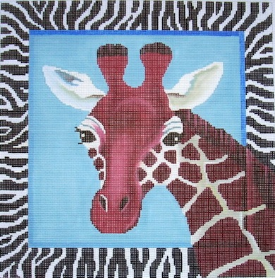 click here to view larger image of Giraffes  (hand painted canvases)