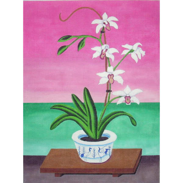 click here to view larger image of Orchid (hand painted canvases)