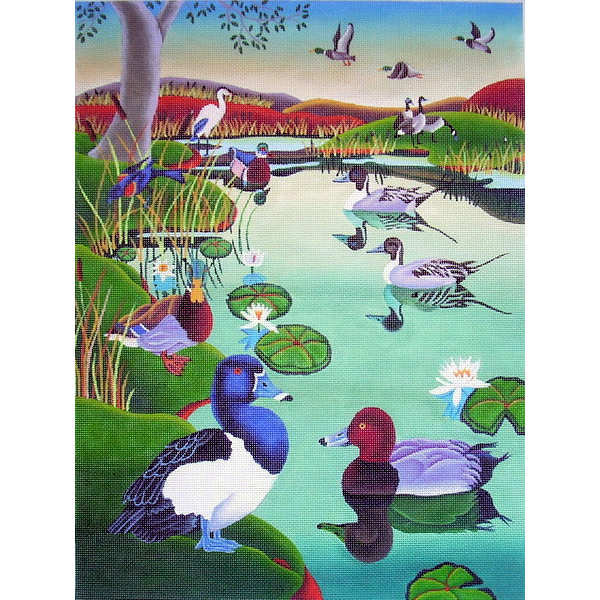 click here to view larger image of Wetlands (hand painted canvases)