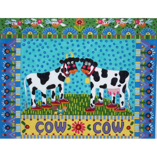 click here to view larger image of Cow Cow  (hand painted canvases)