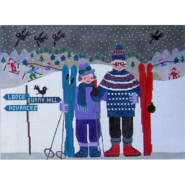 click here to view larger image of Skiing (hand painted canvases)