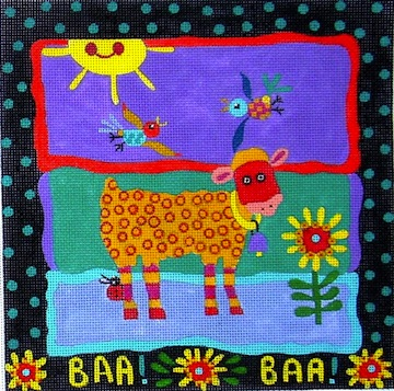 click here to view larger image of Baa Baa (hand painted canvases)