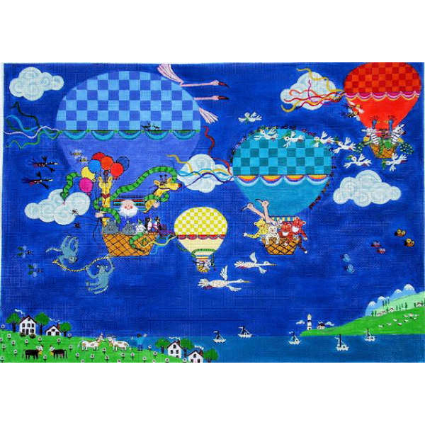 click here to view larger image of Honk Noah's Hot Air Balloons (hand painted canvases)