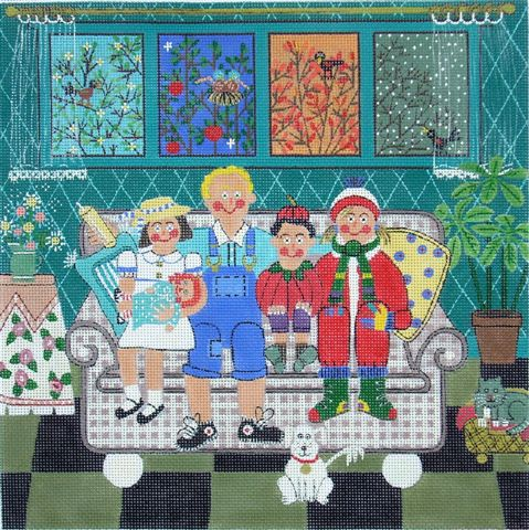click here to view larger image of Four Seasons Family (hand painted canvases)