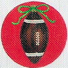 click here to view larger image of Football Ornament (hand painted canvases)
