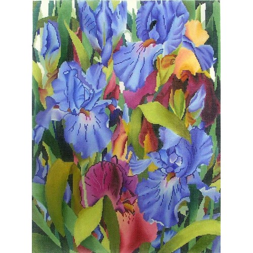 click here to view larger image of Iris Symphony - Small (hand painted canvases)