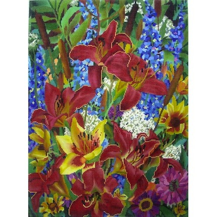 click here to view larger image of Floral Summer's End II (hand painted canvases)