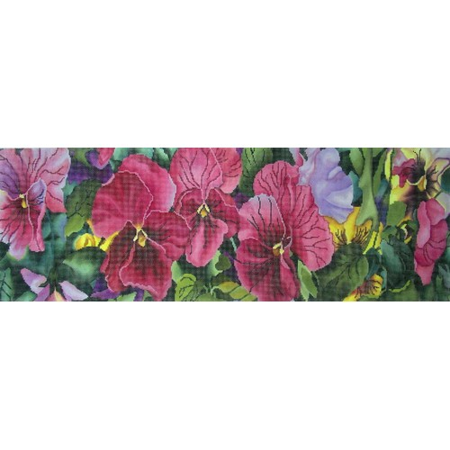click here to view larger image of Pink Pansies Small (hand painted canvases)