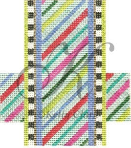 click here to view larger image of Light Candy Stripe (hand painted canvases)
