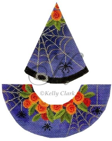 click here to view larger image of Black Widow Witch Hat (hand painted canvases)
